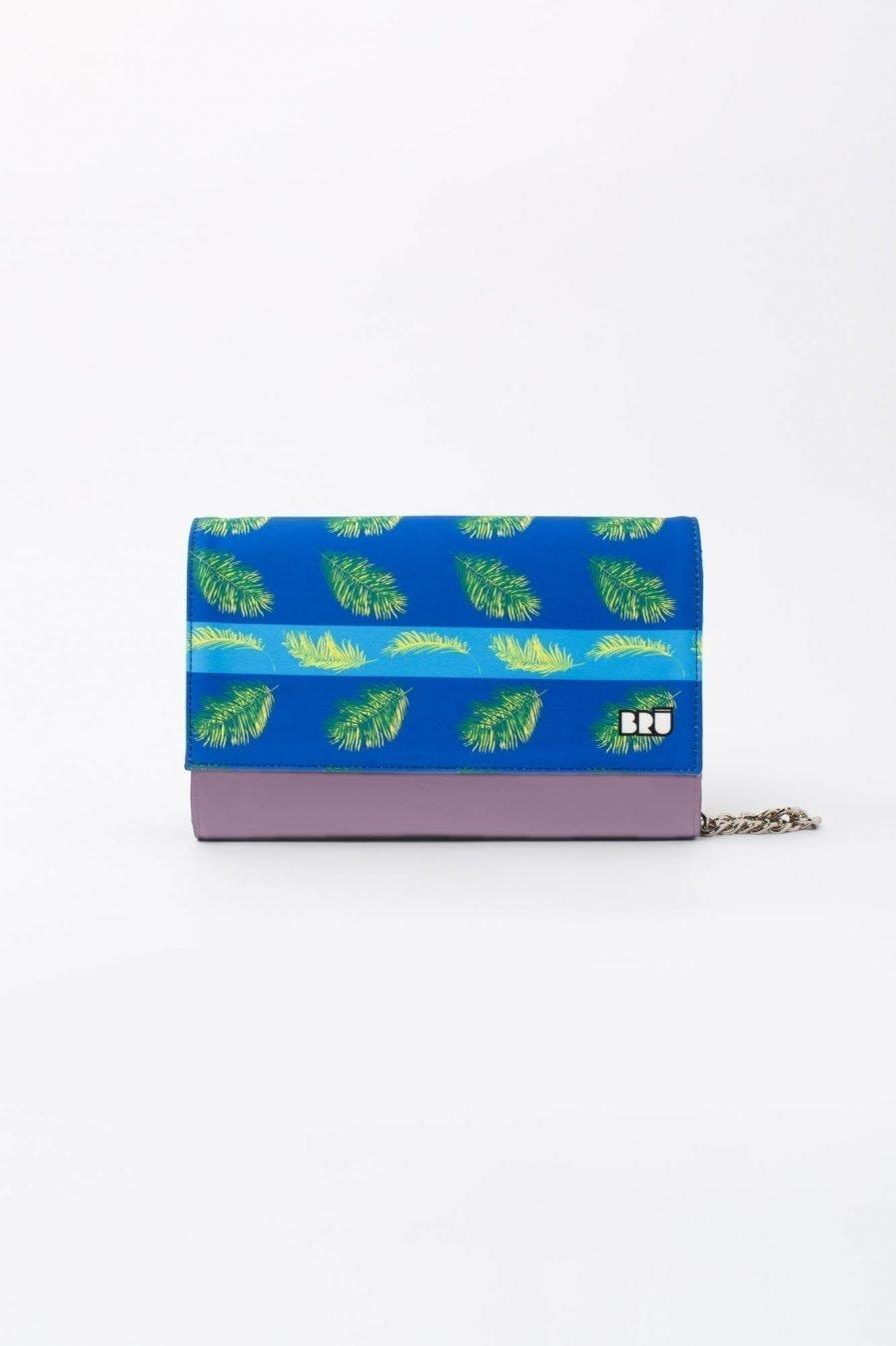 borsetta viola con catena